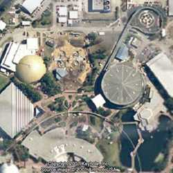 Satellite image of construction area