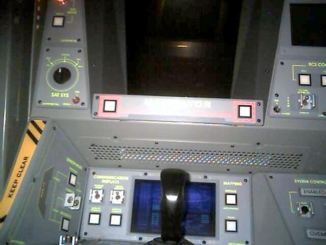 Ride capsule interior