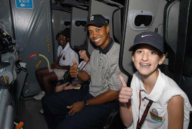 Tiger Woods visit Mission SPACE