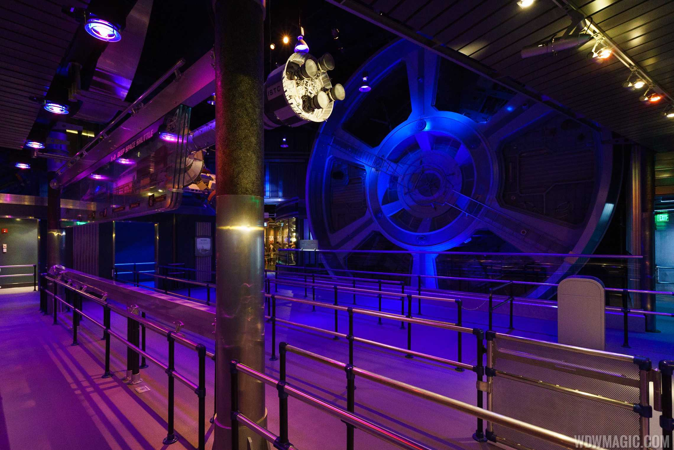 Mission SPACE queue area - the gravity wheel was not repaired and does not rotate