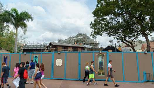 PHOTOS - Royal Sommerhus Frozen meet and greet construction at Epcot's Norway Pavilion