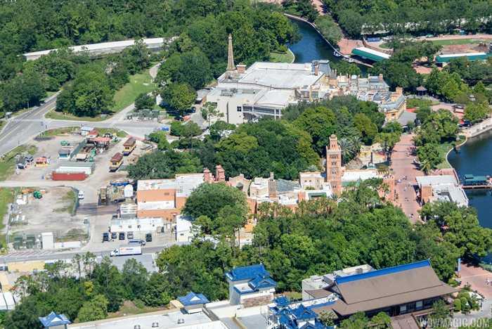 Aerial view of Ratatouille site
