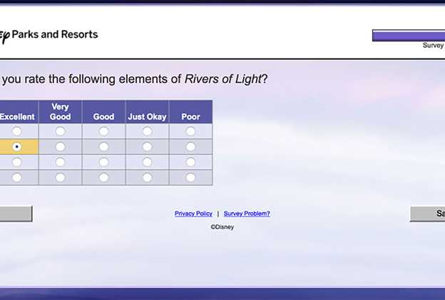 Rivers of Light guest survey