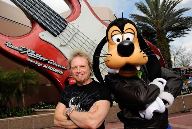Aerosmith's Joey Kramer at Rock n Roller Coaster
