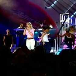 Britney Spears performs at Rock n Roller Coaster