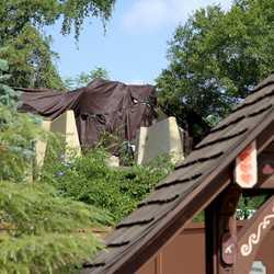 Fantasyland Skyway Station demolition