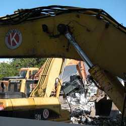 Tomorrowland Skyway Station demolition
