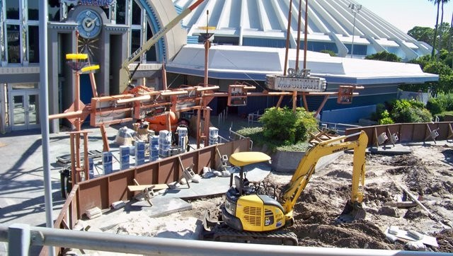 Former Tomorrowland Skyway Station rebuilding