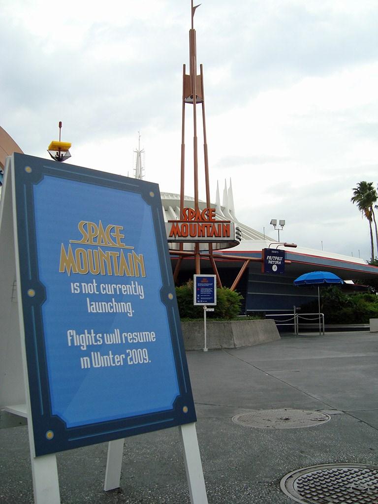 Space Mountain closed for refurbishment