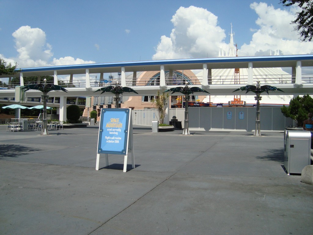 Space Mountain closed for refurbishment