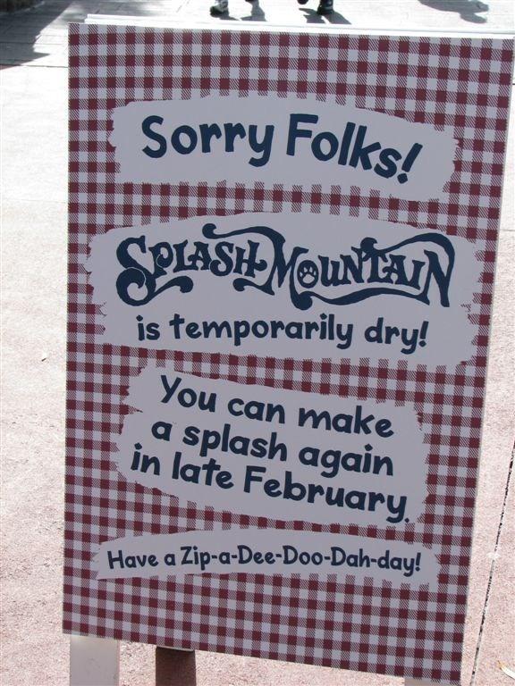 Splash Mountain refurbishment photos