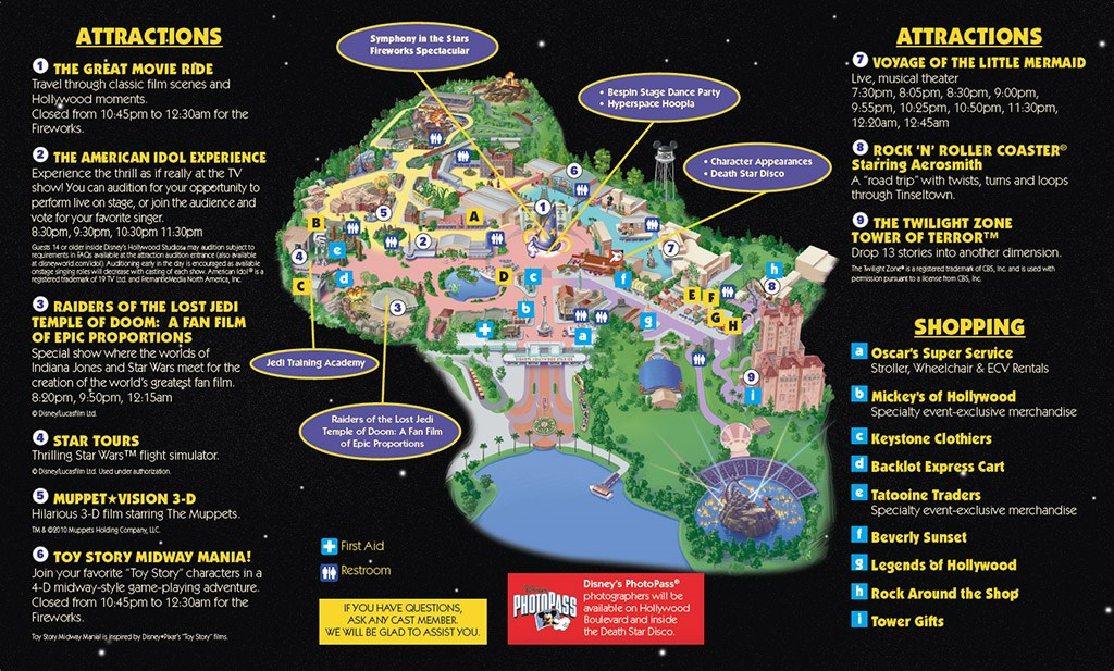 Last Tour to Endor event guide map