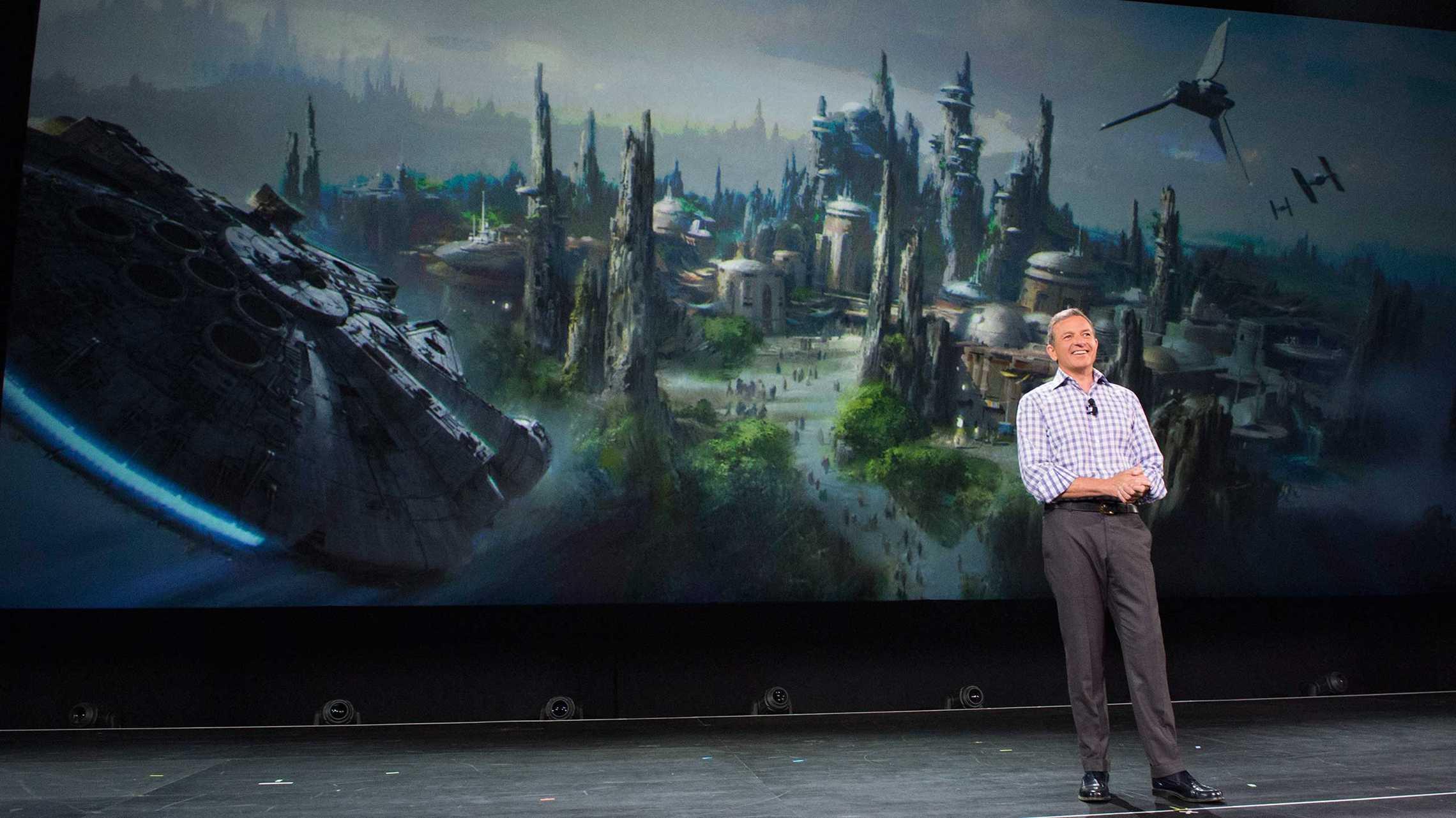 Bob Iger announcing Star Wars Land