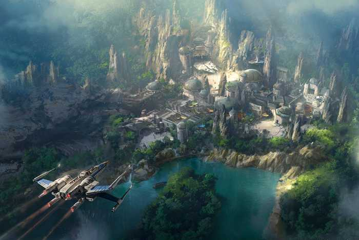 Star Wars Land at Disneyland concept art