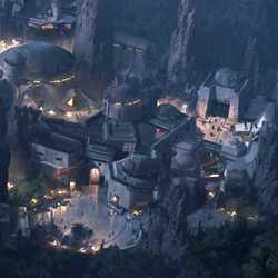 Star Wars Land at Disney's Hollywood Studios concept art