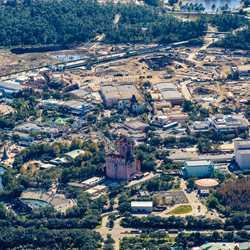 Star Wars Land aerial views