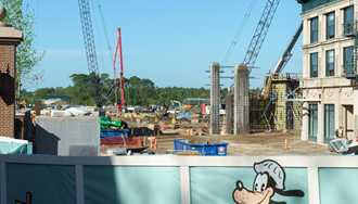 PHOTOS - A look along the old Streets of America at Star Wars and Toy Story Land construction