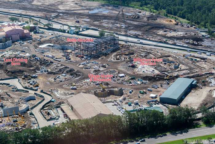 Star Wars Land aerial construction views
