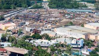 PHOTOS - Aerial views of Star Wars Land construction at Disney's Hollywood Studios