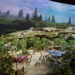 Star Wars Land model in detail