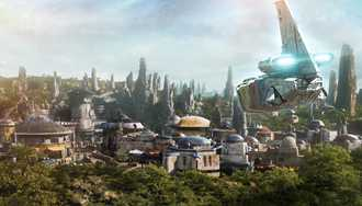 PHOTO - New mission on Star Tours gives a first look at Batuu, the planet to be featured in Star Wars Galaxy's Edge