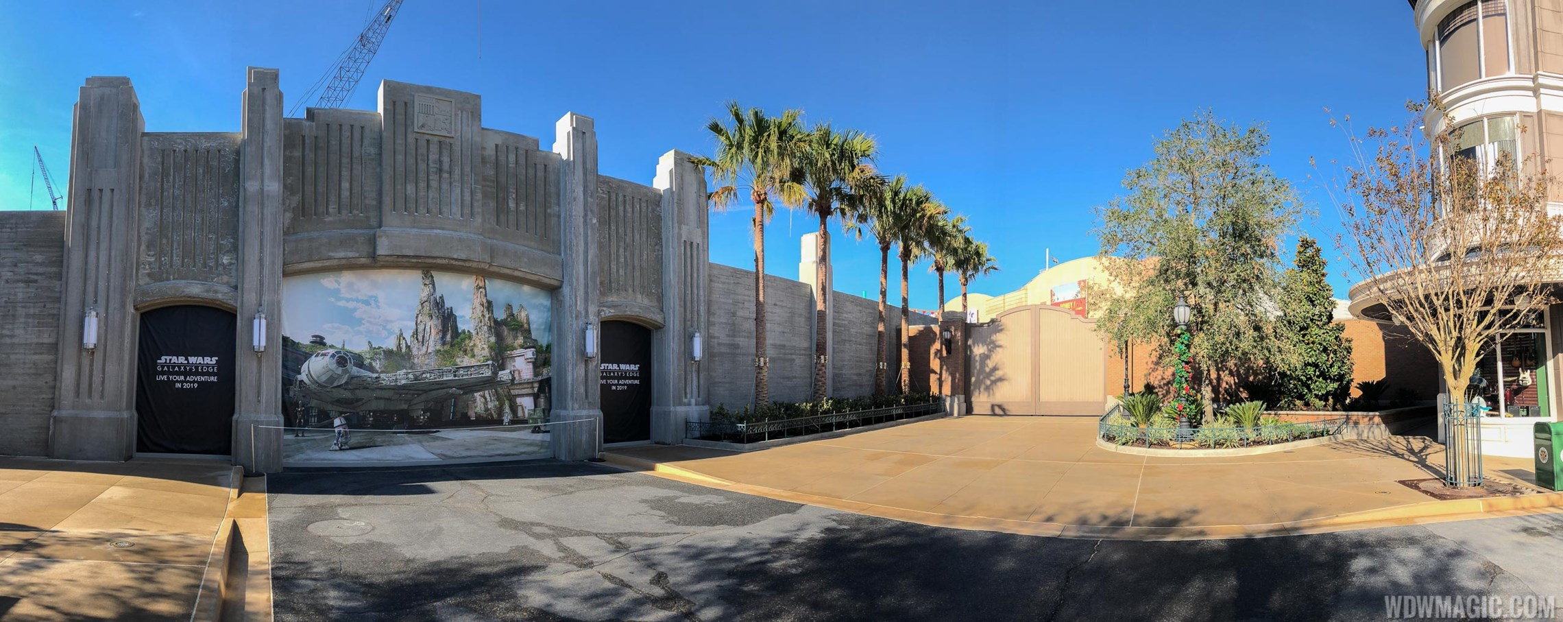 PHOTOS - All walls down at Grand Avenue reveal the entrances to Star Wars Galaxy's Edge