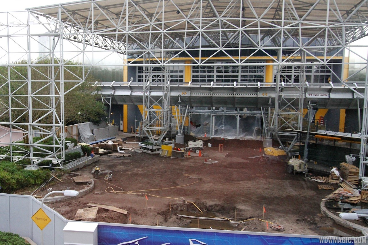 Test Track construction - entrance area