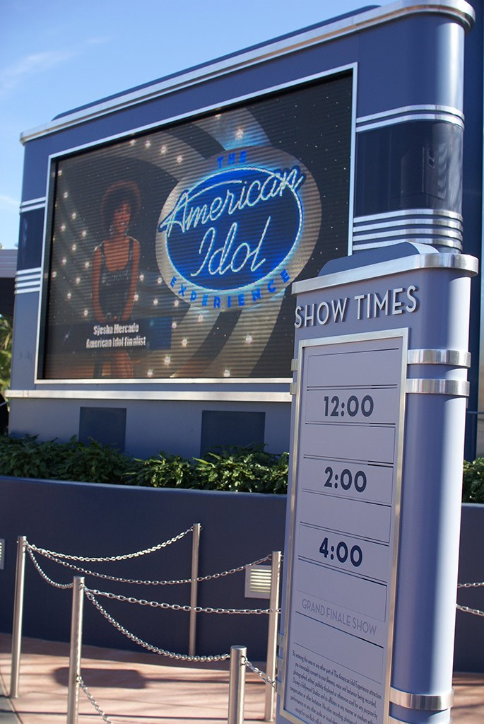 American Idol queue and preshow area