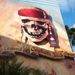 The Legend of Captain Jack Sparrow exterior and show scenes