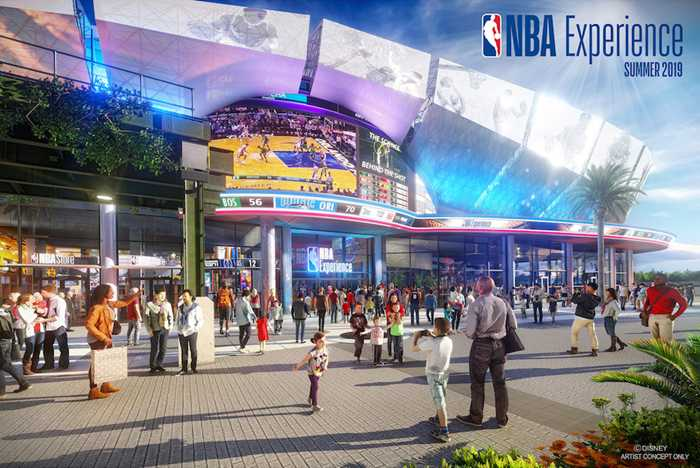The NBA Experience concept art