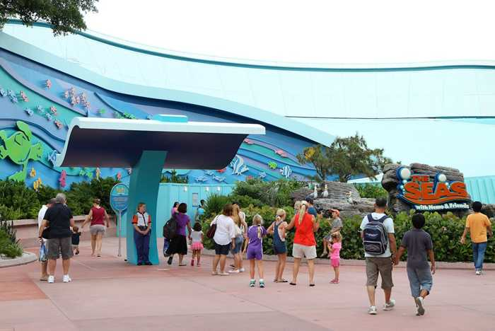 The Seas FASTPASS construction and new entry area