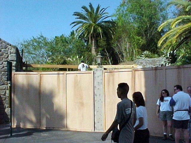 FASTPASS being installed at Tower of Terror