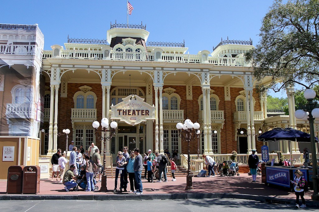 Town Square Theater signage added to the Main Street Exposition hall