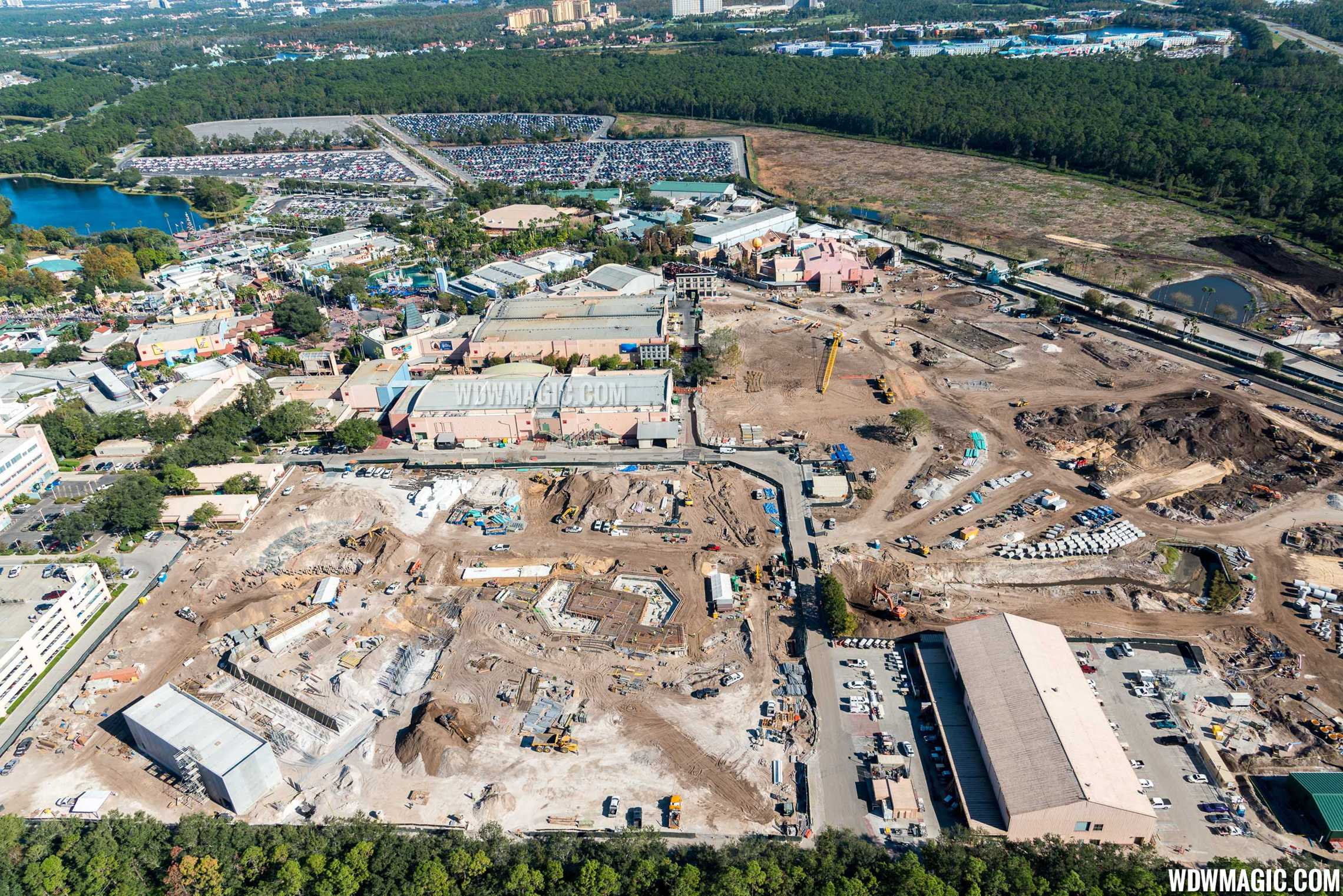 Photo by CJ Berzin @BerzinPhotography. Toy Story Land aerial view.