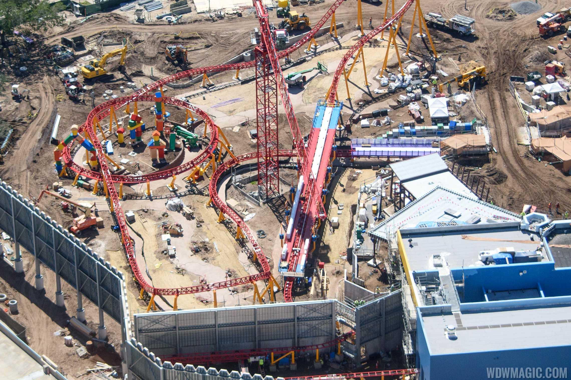 Toy Story Land - Slinky Dog Coaster under construction
