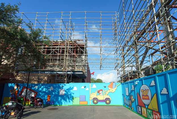 Toy Story Land entrance Soundstage 4 demolition