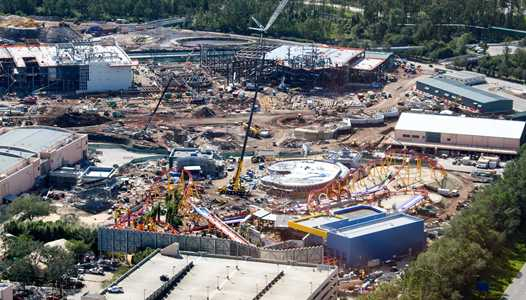 PHOTOS - Views of Toy Story Land from the air