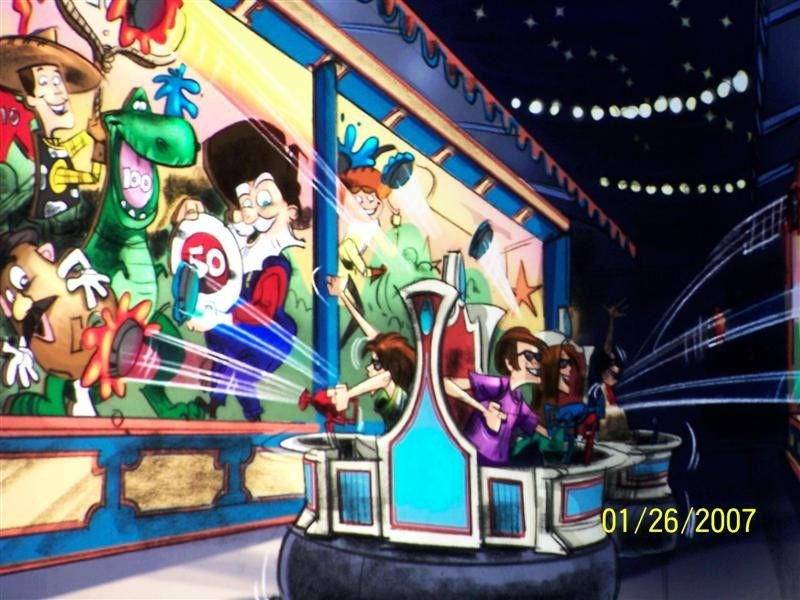 More Toy Story Mania concept art and game play demos