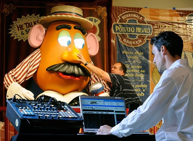 Imagineering programming the Mr Potato Head animatronic figure
