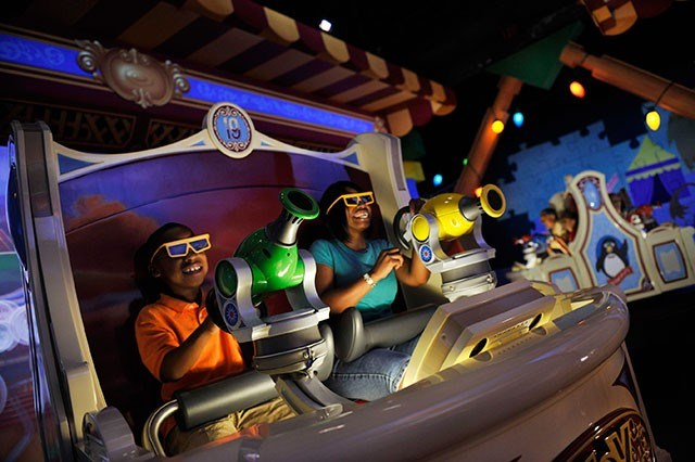 Toy Story Mania ride vehicle photos