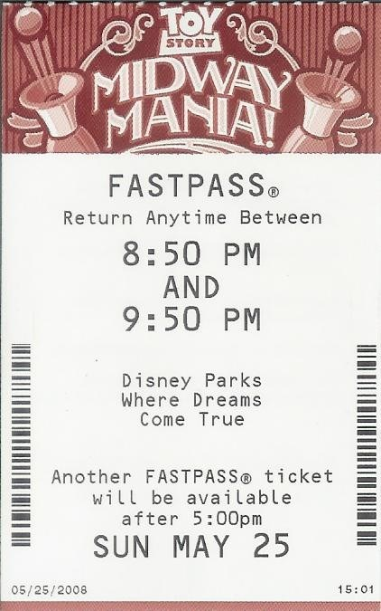 FASTPASS now running at Toy Story Midway Mania