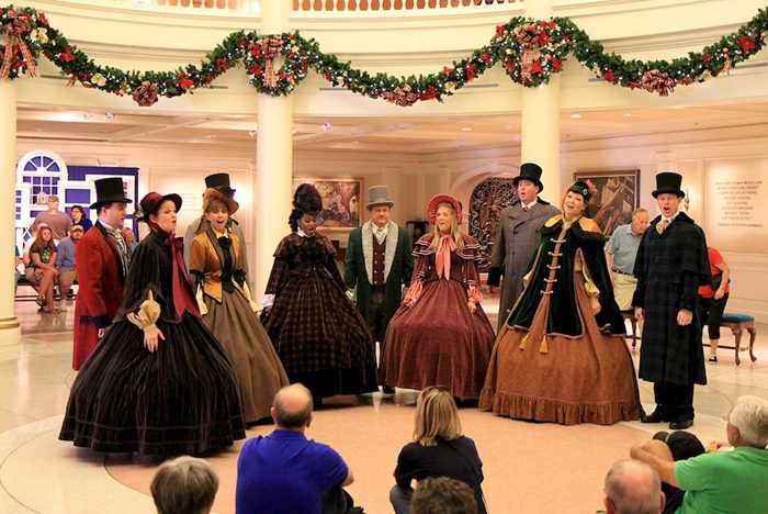 Holiday performance in the American Adventure Rotunda