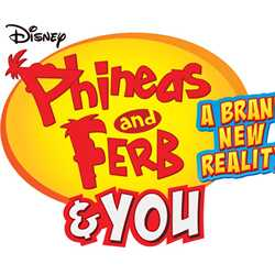'Phineas and Ferb and YOU A Brand New Reality' logo