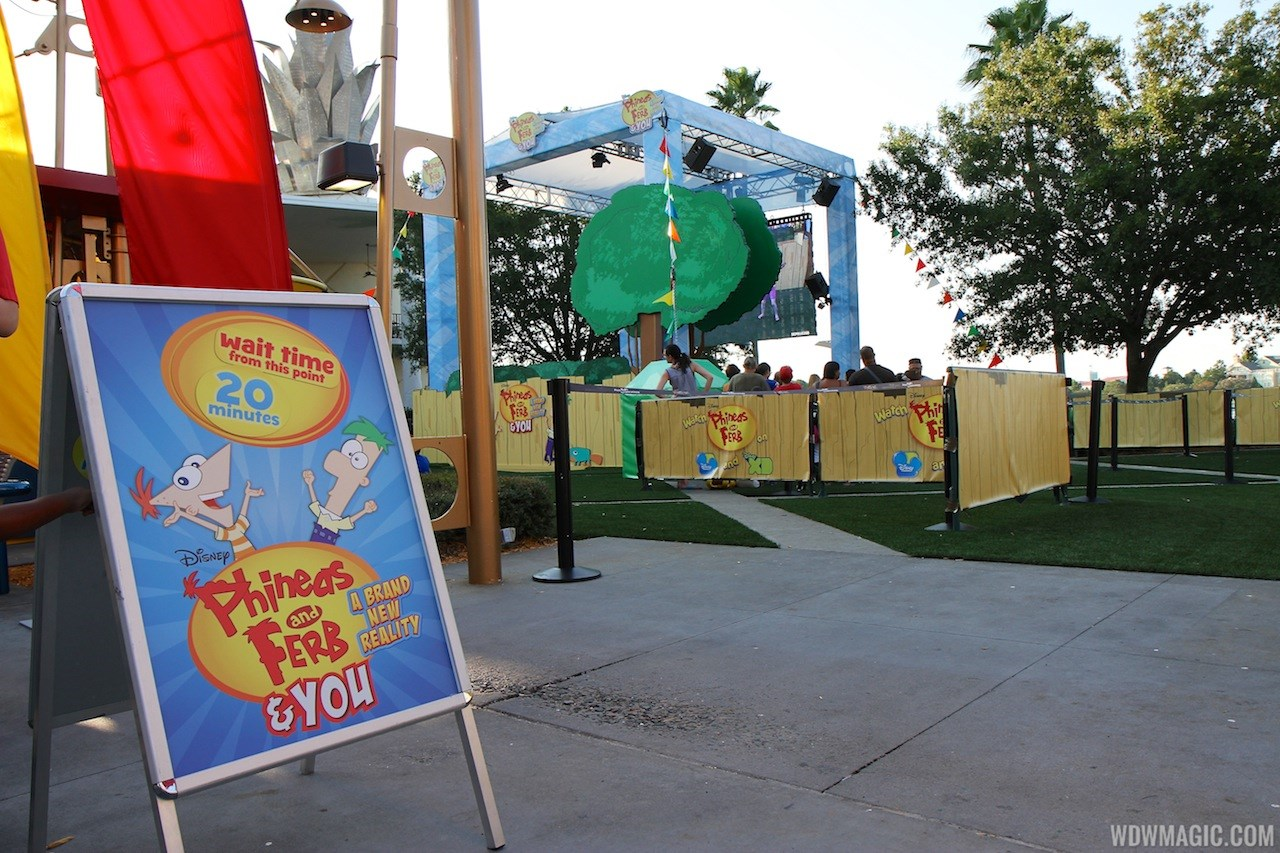 'Phineas and Ferb and YOU A Brand New Reality' opening day