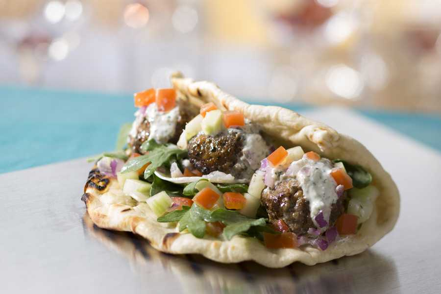 Downtown Disney Food Truck - Lamb Meatball Flatbread