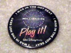 Millionaire Hot Seat pin and FASTPASS