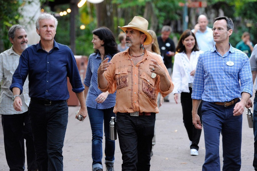 James Cameron, Joe Rohde, Tom Staggs, Meg Crofton tour Animal Kingdom