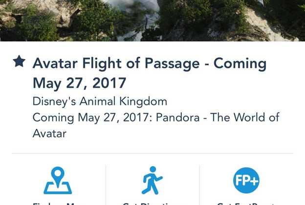 Flight of Passage FastPass in My Disney Experience