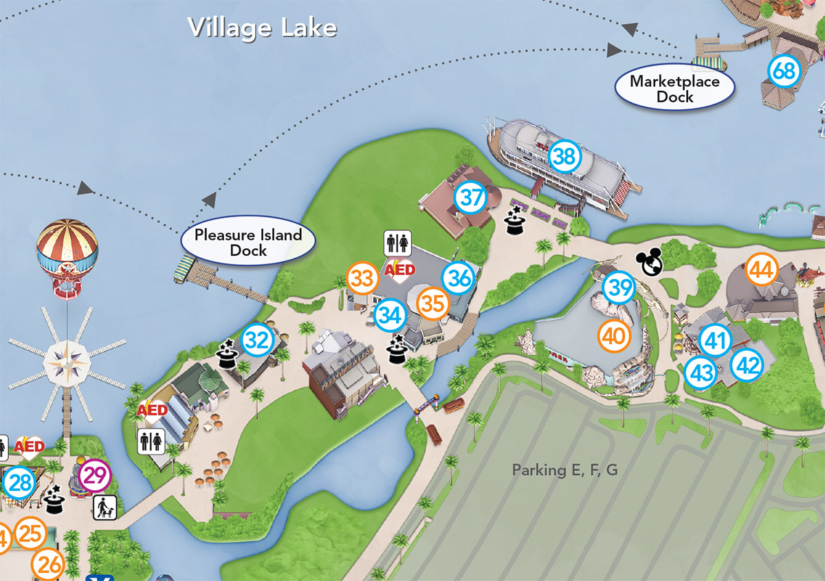 Updated Downtown Disney guide map featuring Pleasure Island demolition    Photo 3 of 3. Updated Downtown Disney guide map featuring Pleasure Island