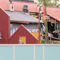Disney Springs construction site on Pleasure Island